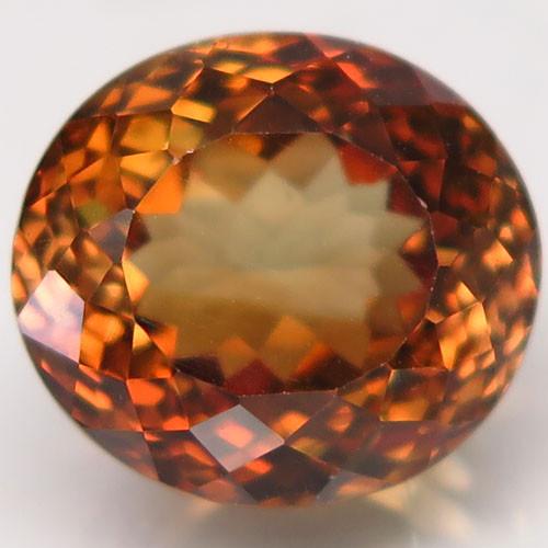 15.03 ct. 100% Natural Topaz Orangey Brown Brazil