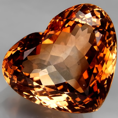17.50 ct. 100% Natural Earth Mined  Topaz Orangey Brown Brazil