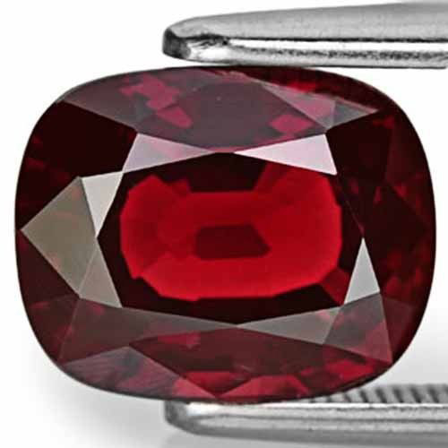 Burma Spinel, 4.08 Carats, Fiery Orangy Red Cushion