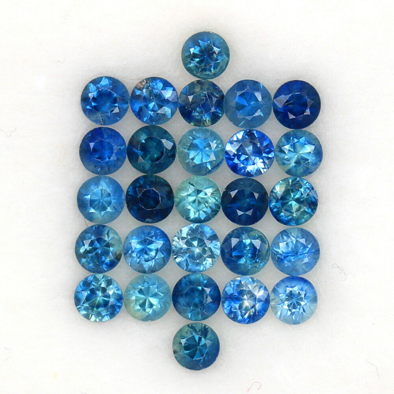 4.02 ct. 3.1 MM. DIAMOND CUT BLUE SAPPHIRE NATURAL GEMSTONE NORMAL HEATED 2