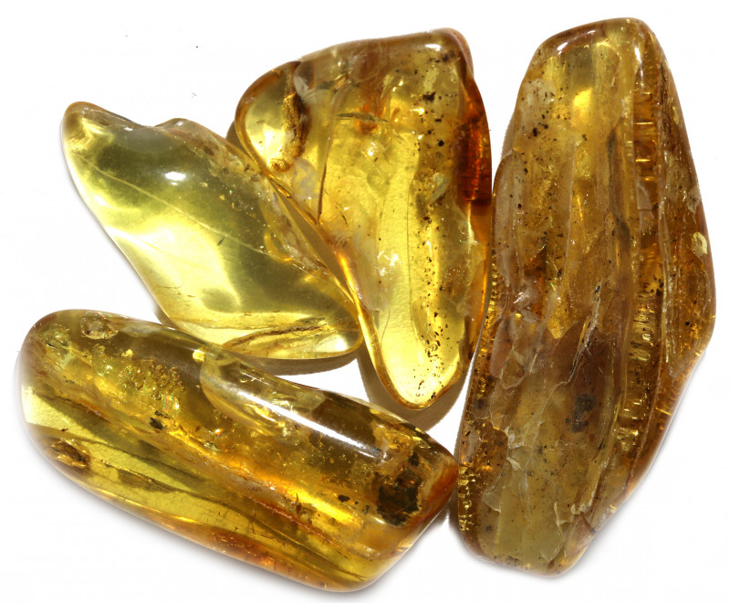 154 Cts Parcel 4 Tumbled Polished Rough Amber  AM 1797