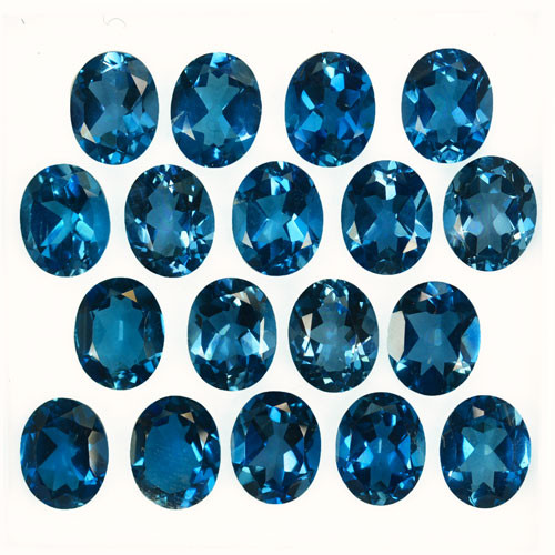 54.41Cts Natural London Blue Topaz 10 X 8mm Oval Calibrated Parcel