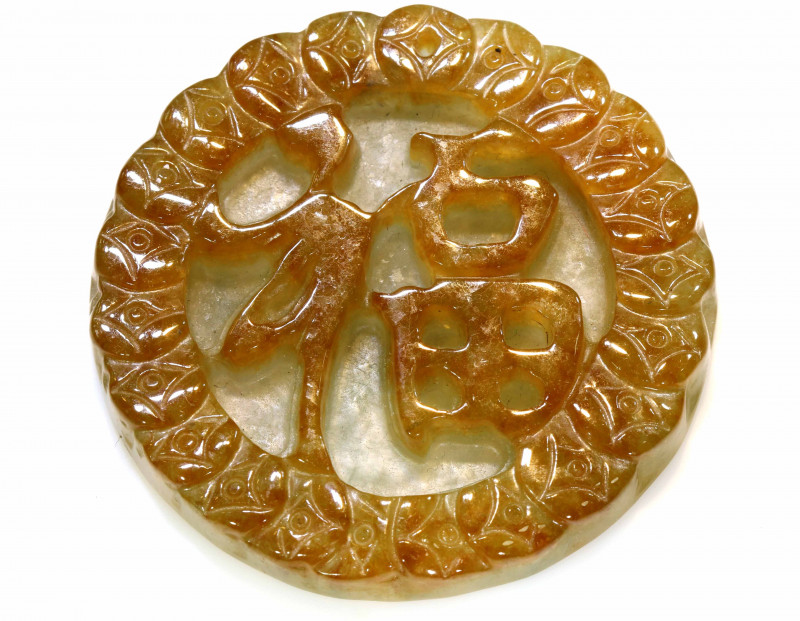 190.70 CTS- NATURAL JADE BURMA CARVING   LG-322
