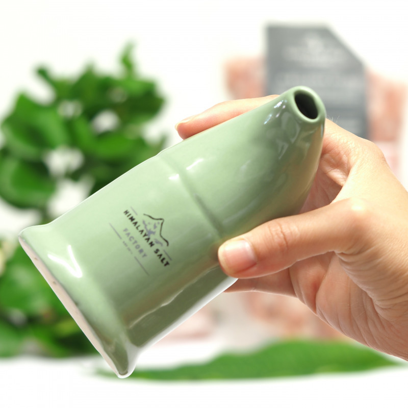 Hot seller -Antibacteria.- Himalayan Salt Ceramic Inhaler,Ilive Green  colo