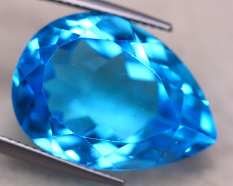 25.08Ct Natural Swiss Blue Topaz Pear Cut Lot A958