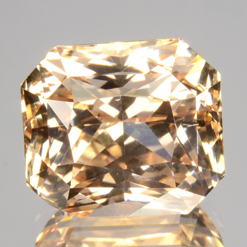 ~UNHEATED~ 5.13 Cts Natural Peachy Orange Sapphire Radiant Cut Sri Lanka