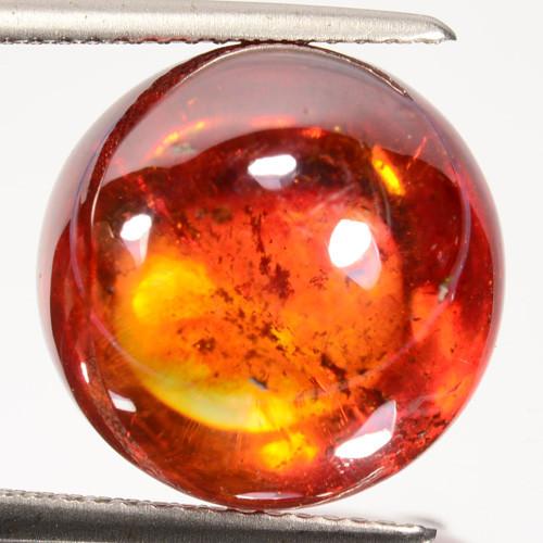 ~RAREST~ 18.60 Cts Natural Sphalerite Sunset Orange 14mm Cabochon Spain
