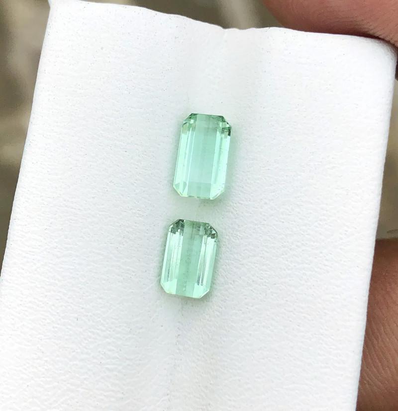 2.35 Ct Natural Green Transparent Tourmaline Gems Parcels