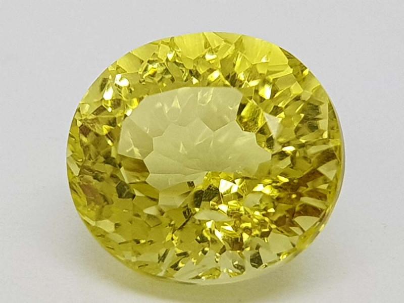 5.35Crt Concave lemon Quartz Natural Gemstones JI2