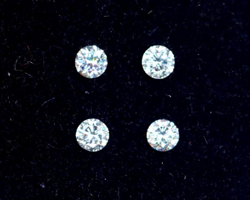 1.9mm D-F Brilliant Round VS Loose Diamond 4pcs