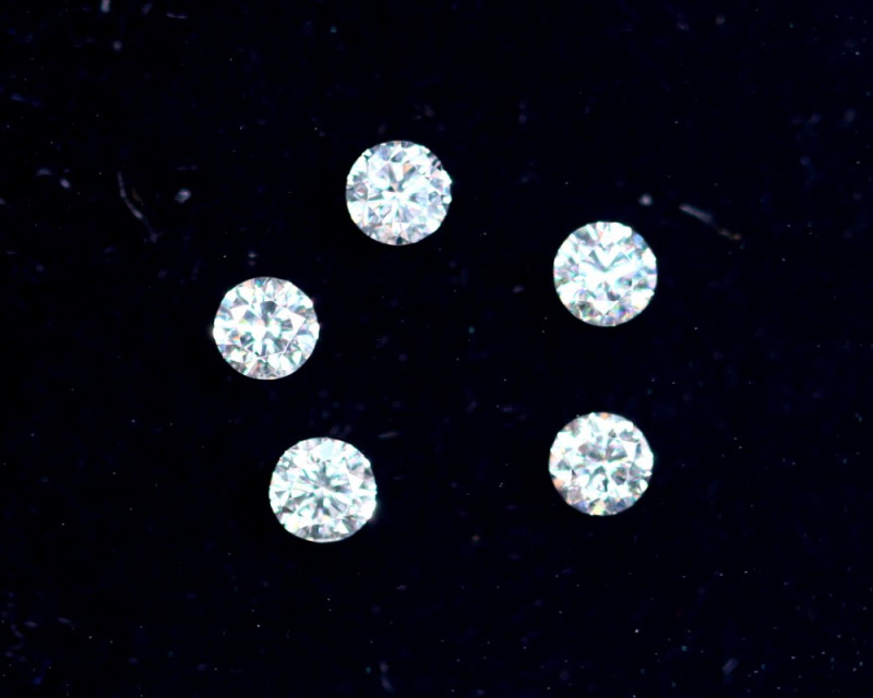 1.9mm D-F Brilliant Round VS Loose Diamond 5pcs