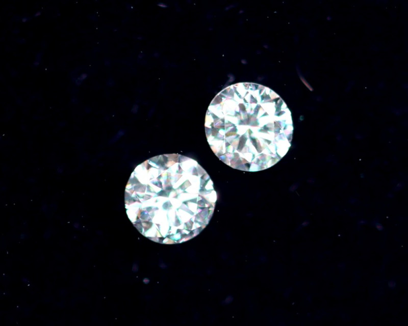 2.2mm D-F Brilliant Round VS Loose Diamond 2pcs