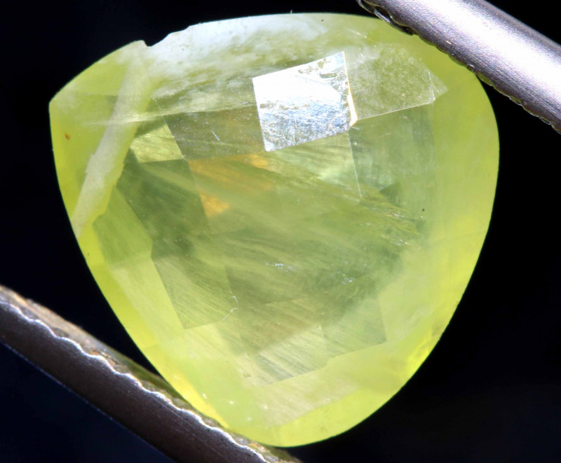 6.30  CTS PREHNITE FACETED BEAD    LG-462