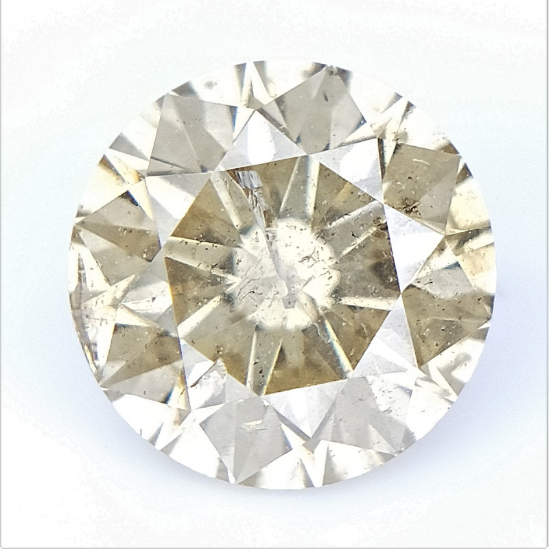 1.00 cts , Natural Champagne Diamond , Round Brilliant Cut