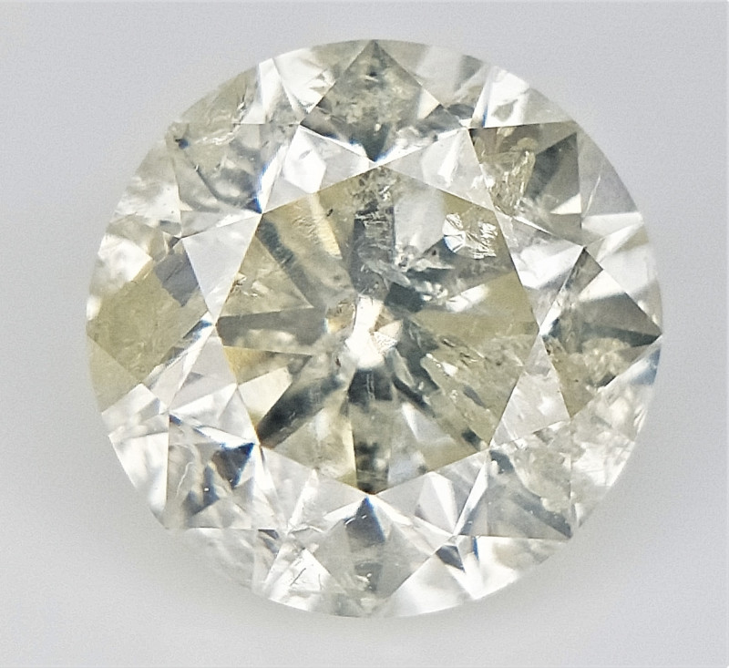 0.91 cts , Rare Very Light Yellow Diamond , Conflict Free Diamond