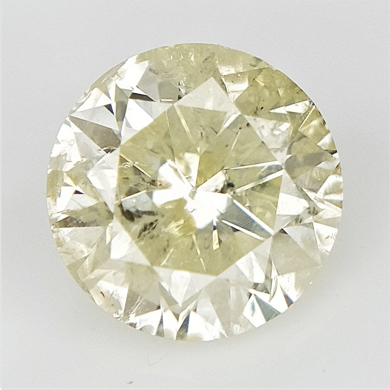 0.90 cts , Solitaire Diamond , Carat Diamond , Light Fancy Diamond
