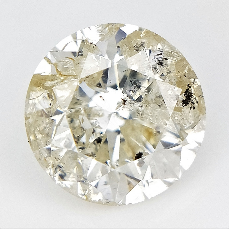 1.03 cts , Champagne Natural Diamond , Round Brilliant Cut