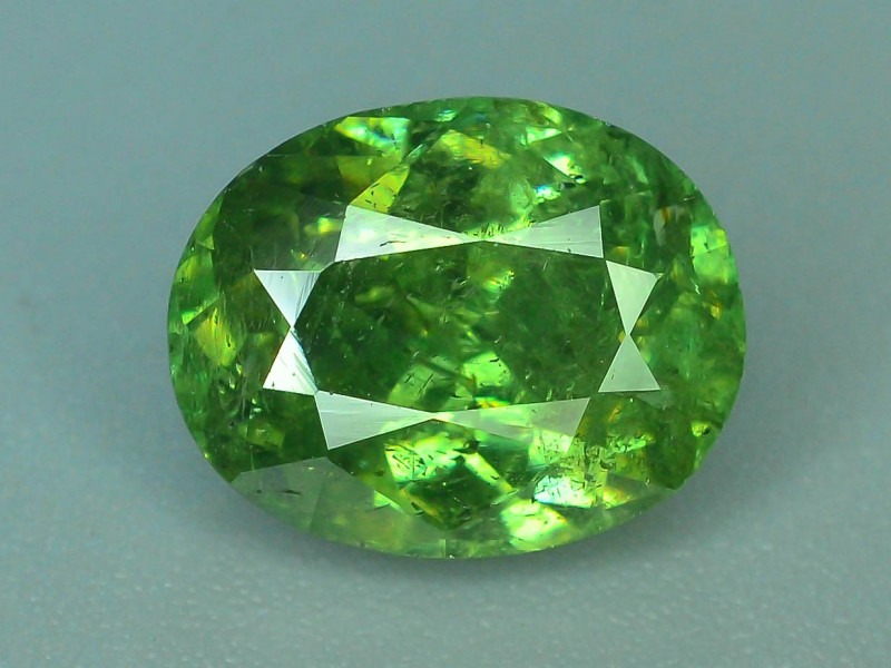 GIL Certified Top Highest Quality 2.08 ct Demantoid Garnet