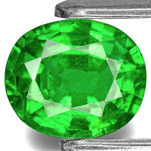 Kenya Tsavorite Garnet, 1.33 Carats, Electric Green Oval