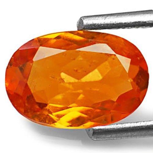 Tanzania Clinohumite, 1.13 Carats, Fiery Orange Oval