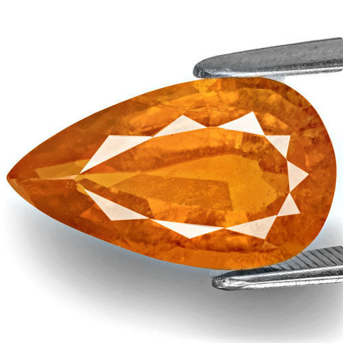 Tajikistan Clinohumite, 5.33 Carats, Dark Orange Pear