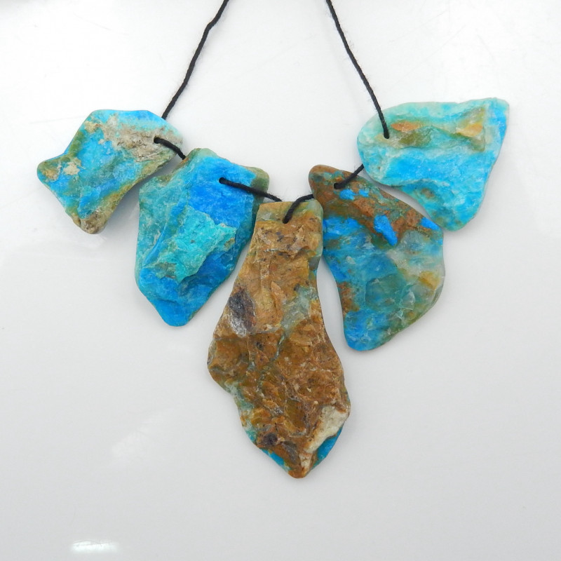 85.5cts Natural Blue Opal Necklace, Gemstone Necklace G05