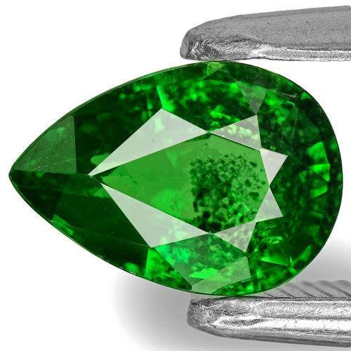 Kenya Tsavorite Garnet, 0.86 Carats, Chrome Green Pear