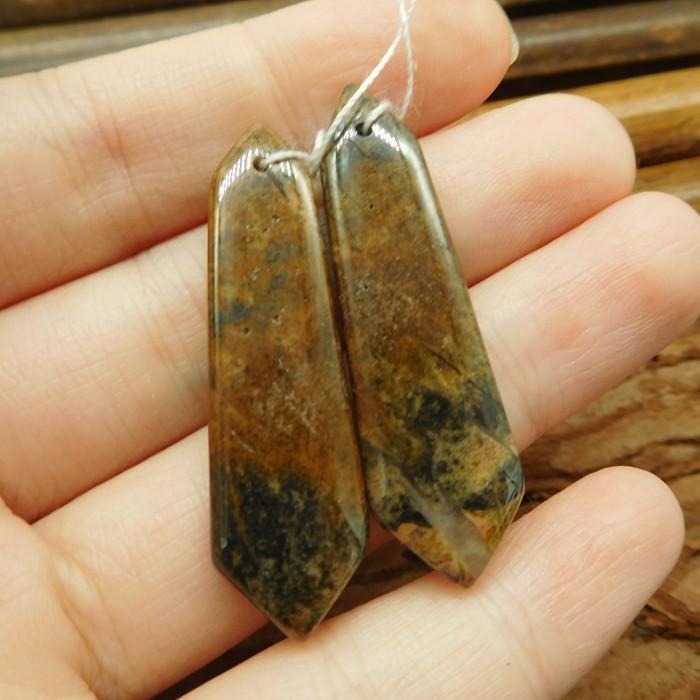 Chouhua jasper earring pair (G1884)
