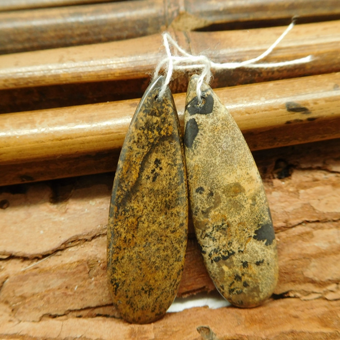 chouhua jasper earring bead (G1887)