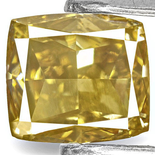 IGI Certified Angola Fancy Color Diamond, 1.01 Carats, Cushion