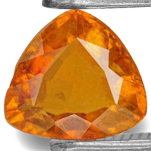 Tajikistan Clinohumite, 1.05 Carats, Deep Yellowish Orange Trilliant
