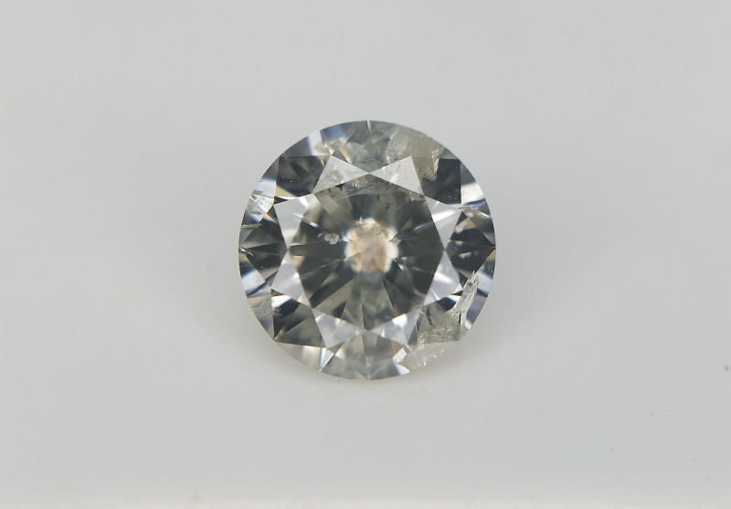 0.51 cts , Grey Salt And Pepper Diamond , Diamond with Natural Impurities