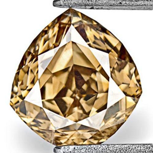 Australia Fancy Color Diamond, 0.47 Carats, Fancy Deep Champagne Brown