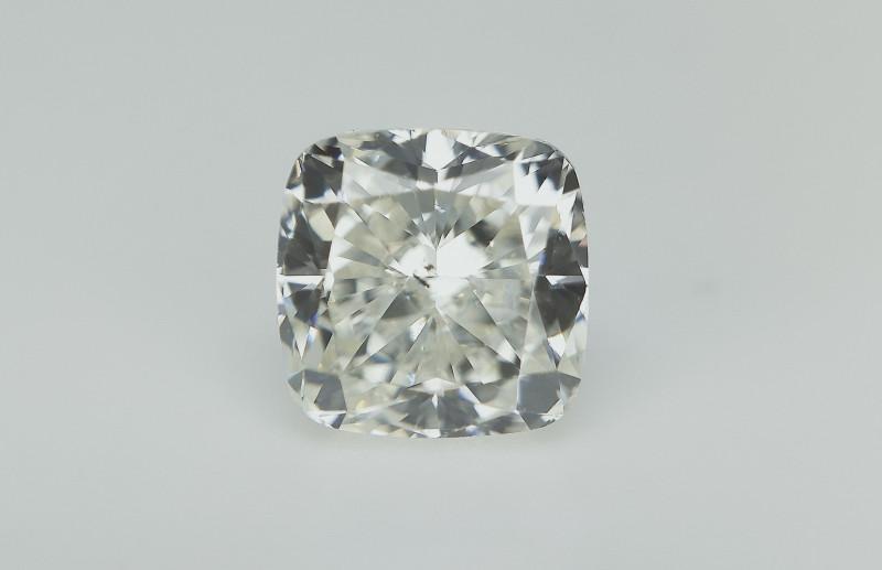0.74 CTS , Extremely rare White Diamond , Cushion Cut
