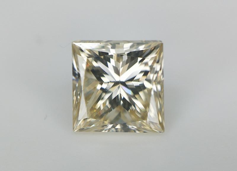 0.70 cts  , Princess Brilliant Cut Diamond , Natural Champagne Color