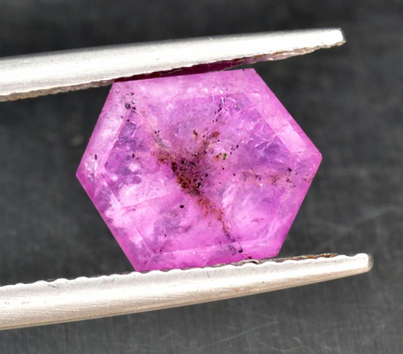 Natural Rare Trapiche Sapphire 3.06 Cts from Kashmir, Pakistan
