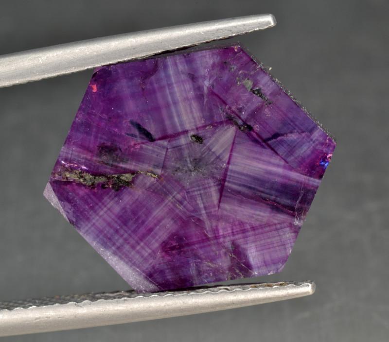 Natural Rare Trapiche Sapphire 10.19 Cts from Kashmir, Pakistan