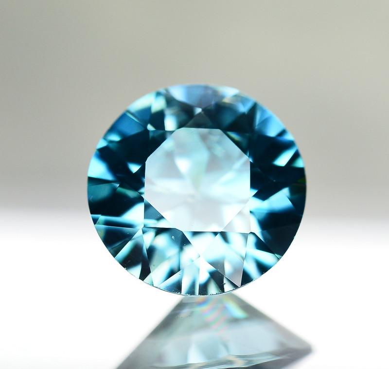 5 Ct Gorgeous Color Natural Vibrant Blue Zircon