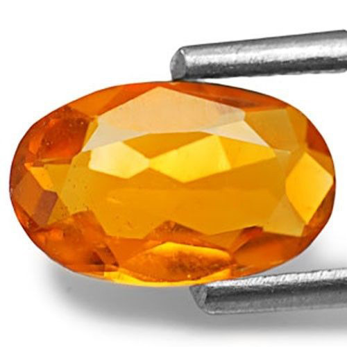 Tanzania Clinohumite, 0.77 Carats, Deep Orange Oval