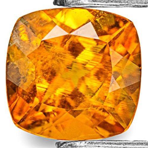 Tanzania Clinohumite, 1.08 Carats, Bright Orange Cushion