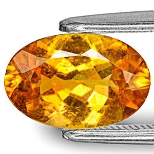 Tanzania Clinohumite, 1.68 Carats, Golden Orange Oval