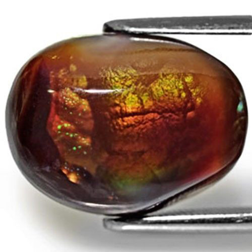 Mexico Fire Agate, 11.01 Carats, Orangish Brown Oval