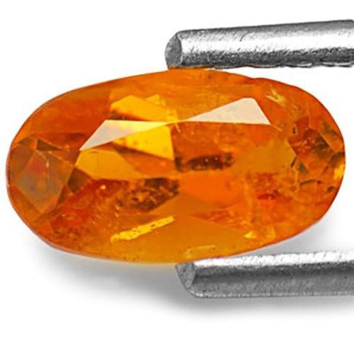 Tanzania Clinohumite, 0.73 Carats, Intense Orange Oval