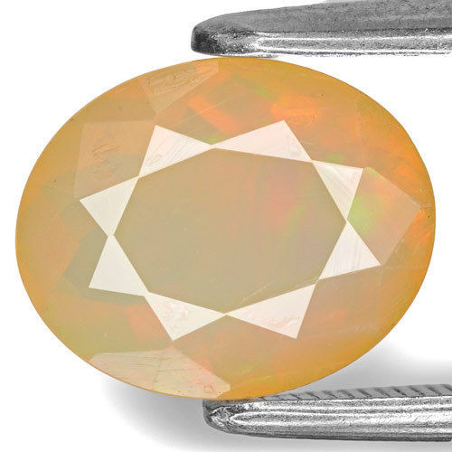 Ethiopia Opal, 1.67 Carats, Light Yellow Oval