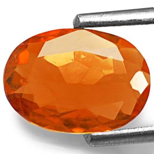 Tanzania Clinohumite, 0.99 Carats, Intense Orange Oval