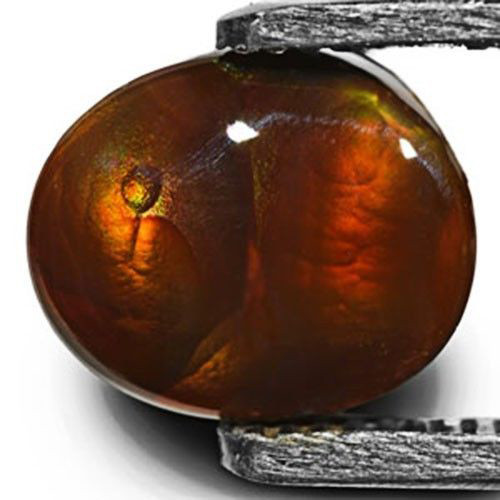 Mexico Fire Agate, 7.98 Carats, Orangish Brown Oval