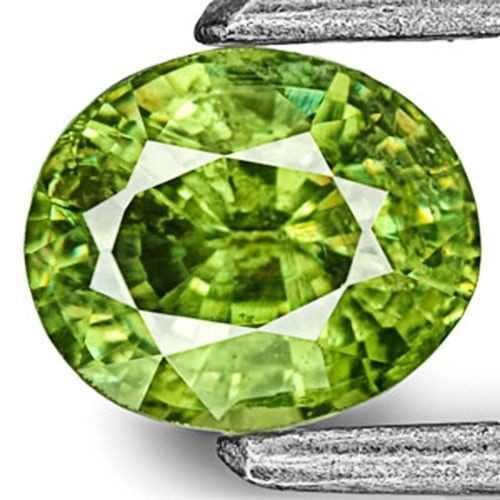 Namibia Demantoid Garnet, 0.56 Carats, Intense Green Oval