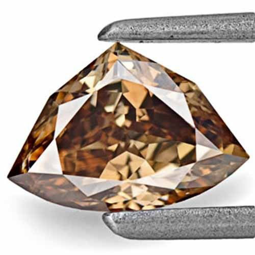 Australia Fancy Color Diamond, 0.78 Carats, Fancy Deep Chocolate Brown
