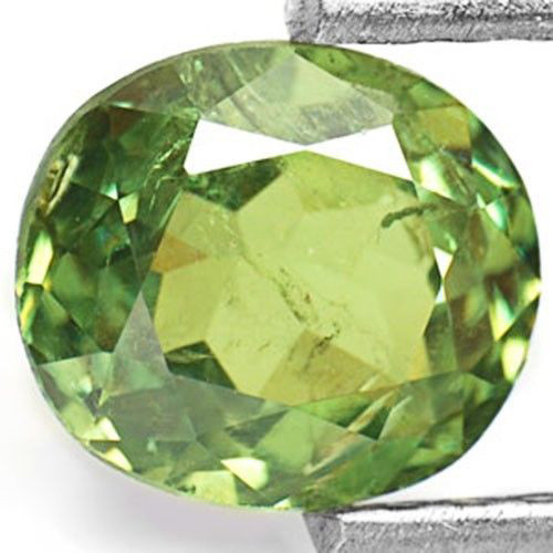 AIGS Certified Namibia Demantoid Garnet, 1.19 Carats, Intense Green Oval