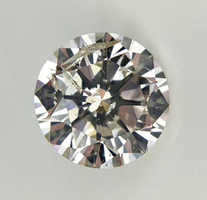 1.04 cts Round Brilliant Diamond , Light Color Diamond